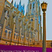 Washington National Cathedral Travel Art Print