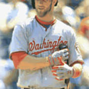 Washington Nationals Bryce Harper Art Print