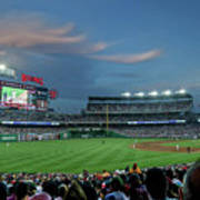 Washington Nationals In Our Nations Capitol Art Print