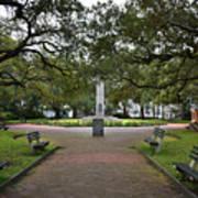 Washington Park, Charleston, Sc Art Print