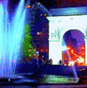 Washington Square Fountain 13c Art Print