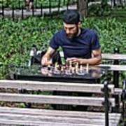 Washington Square Park Chess Man Art Print