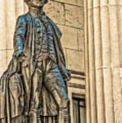 Washington Statue - Federal Hall  #1 Art Print