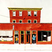 Washington Street Barbers Art Print