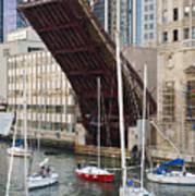 Washington Street Bridge Lift Chicago Art Print