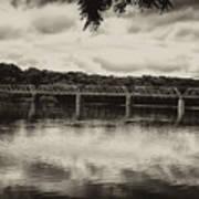 Washingtons Crossing Bridge Art Print