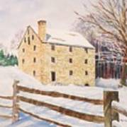 Washington's Grist Mill Art Print