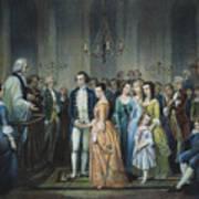 Washingtons Marriage Art Print