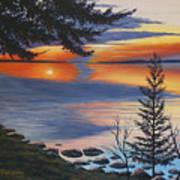 Waskesiu Sunset Art Print