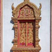 Wat Buppharam Phra Wihan Window Dthcm1582 Art Print