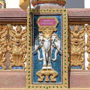 Wat Chedi Mae Krua Wihan Veranda Rail Decorations Dthcm1847 Art Print
