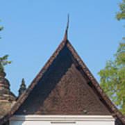 Wat Jed Yod Phra Ubosot Teakwood Gable Dthcm0968 Art Print