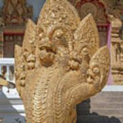 Wat Kumpa Pradit Phra Wihan Five-headed Naga Dthcm1664 Art Print