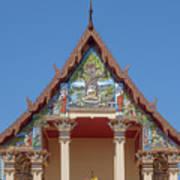 Wat Pho Samphan Phra Ubosot Gable Dthcb0065 Art Print