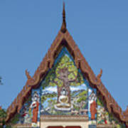Wat Pho Samphan Phra Ubosot Gable Dthcb0066 Art Print