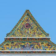 Wat Ratcha Orasaram Phra Wihan Gable Dthb0862 Art Print