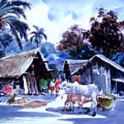 Watar Color Village Art Print