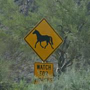 Watch For Horses Art Print