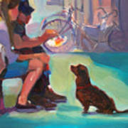 Watching And Waiting Print by Merle Keller
