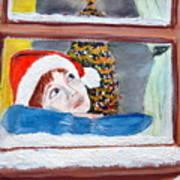 Watching For Santa Art Print