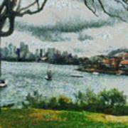 Water And Scenery Art Print