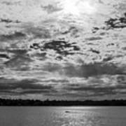 Water And Sky - Bw Art Print