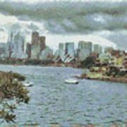 Water And Skyline Art Print