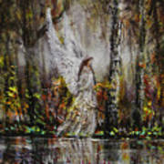 Lake Angel Art Print