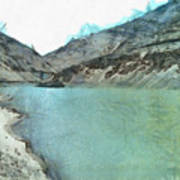 Water Body In The Himalayas Art Print