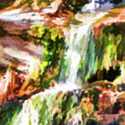 Water Cascading Art Print