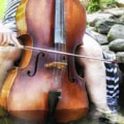 Water Cello  Art Print