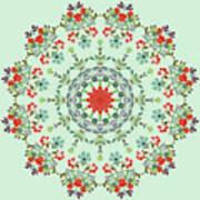 Water Color Garden Kaleidoscope Art Print