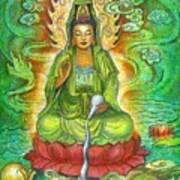 Water Dragon Kuan Yin Art Print