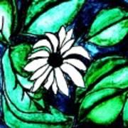 Water Fantasy Flower Art Print