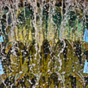 Water Fountain Light Charleston Art Print by Lori Kesten