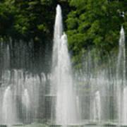Water Fountain Show - Longwood Gardens In Pa Art Print