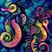 Water Horses B Art Print
