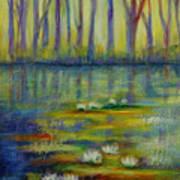 Water Lilies No 2. Art Print