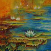Water Lilies No 4. Art Print