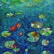 Water Lily Lotus Lily Pads Paintings Art Print