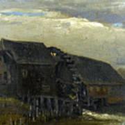 Water Mill At Opwetten Vincent Van Gogh Art Print