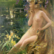 Water Nymph Art Print by Gaston Bussiere