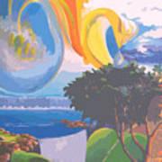 Water Planet Series - Vetor Version Art Print