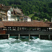Water Power Lucerne Art Print
