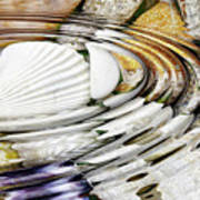 Water Ripples Above Sea Shells Art Print