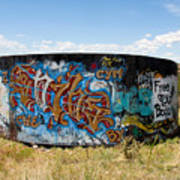 Water Tank Graffiti Art Print