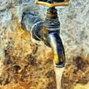 Water Tap Art Print