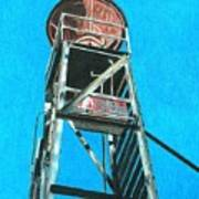 Water Tower Art Print by Glenda Zuckerman
