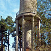 Water Tower In Malmi Cemetery Art Print