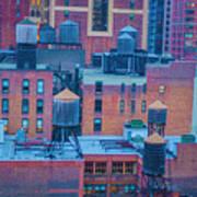 Water Towers  Art Print